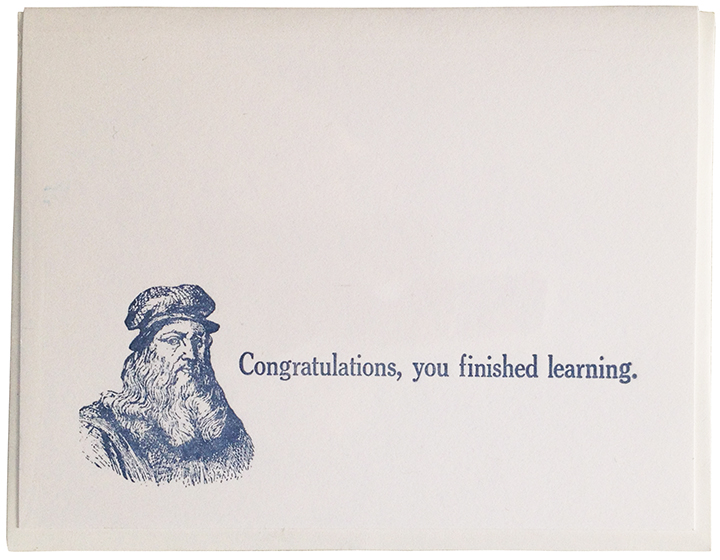 Congratulations, you finished learning.smaller