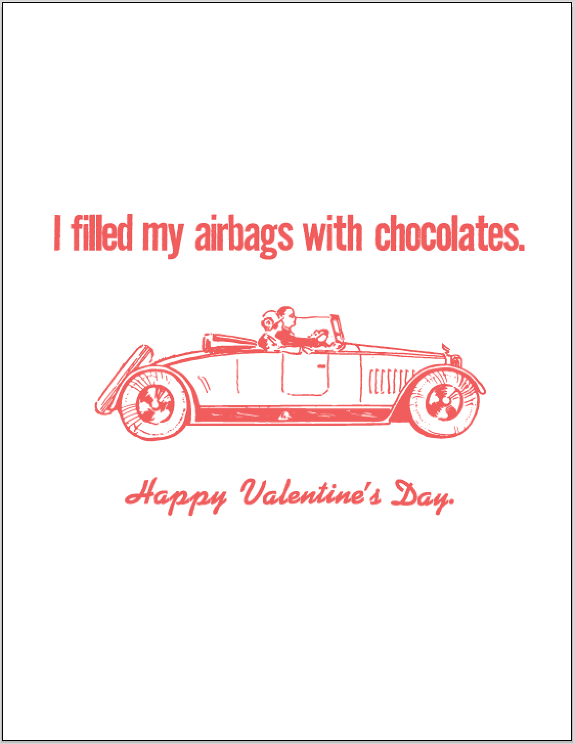 airbags with chocolates