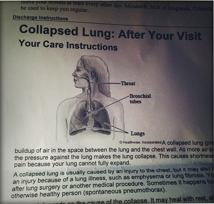 collapsed lung discharge papers
