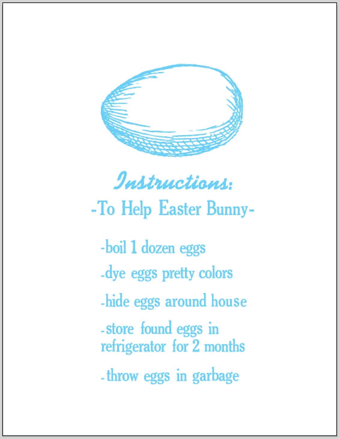 egg instructions