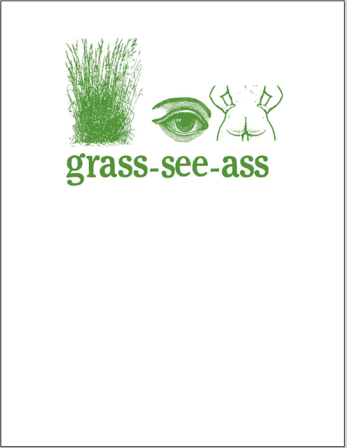 grass see ass