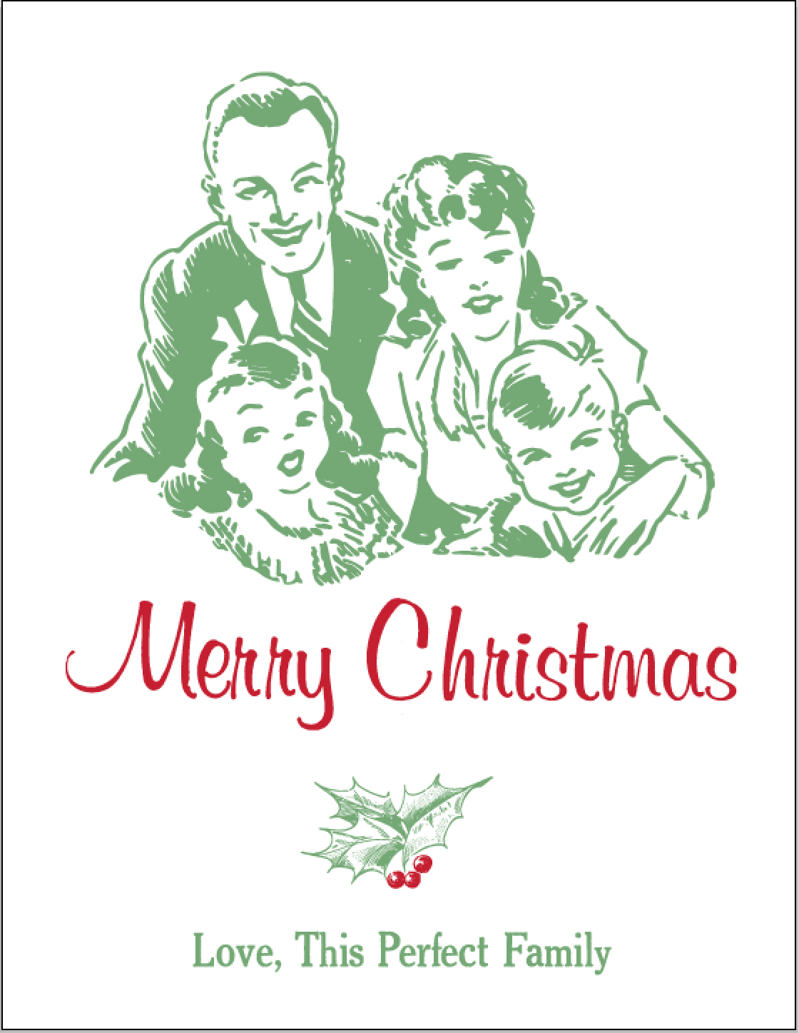 merry christmas perfect family