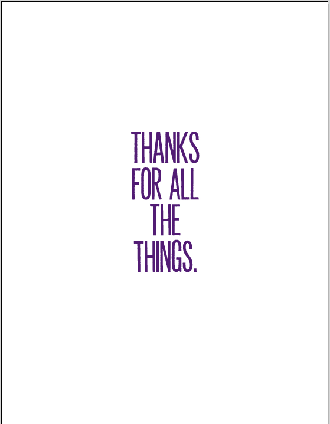 thanks for all the things purple