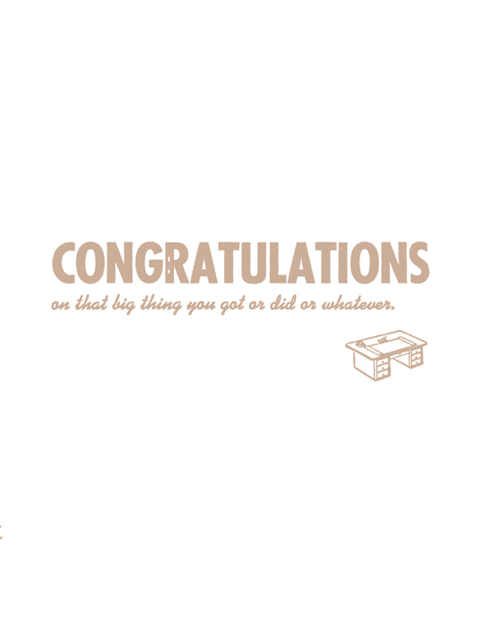 whatever congratulations