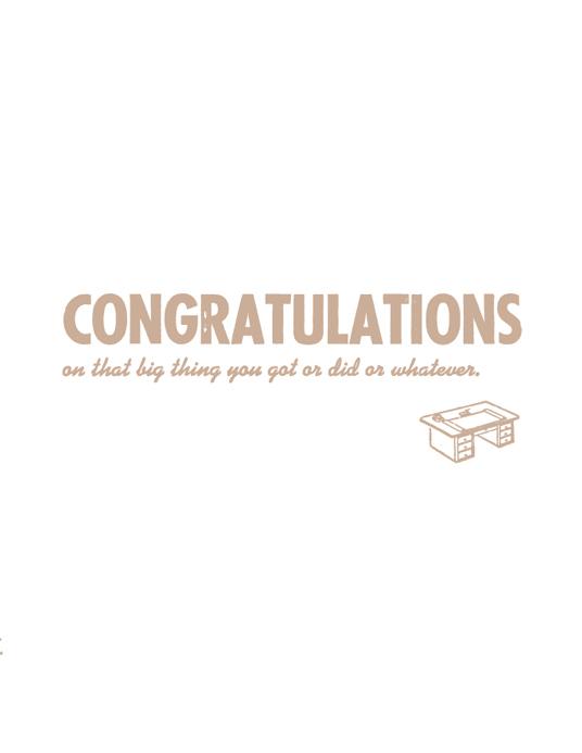 whatever congratulations
