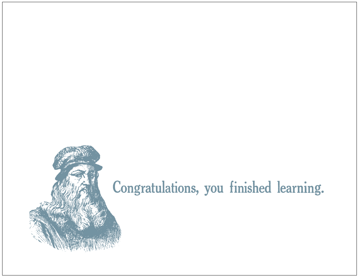 you finished learning