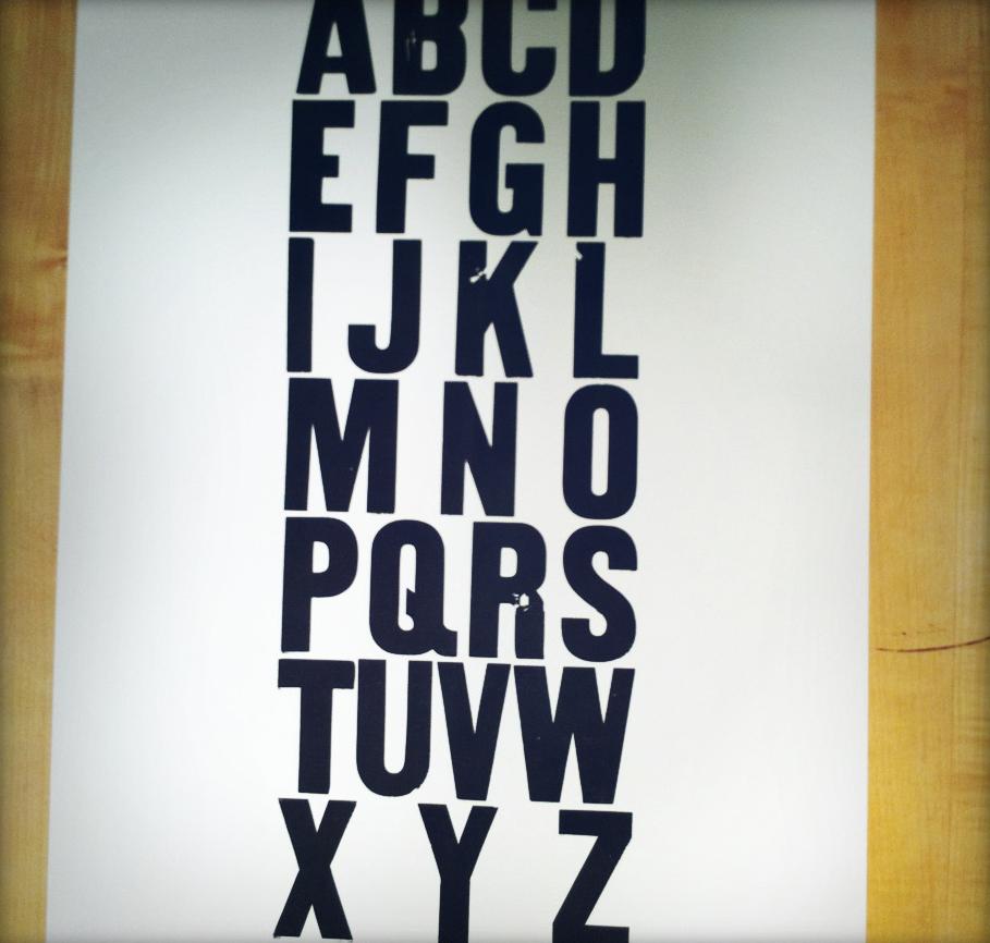 Room & Board - Alphabet B&W
