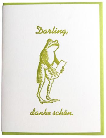 Darling, danke shön.